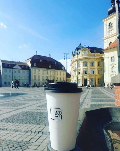 AM PM coffee more sibiu