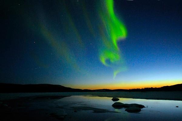 Parcul National Abisko Suedia aurora boreala