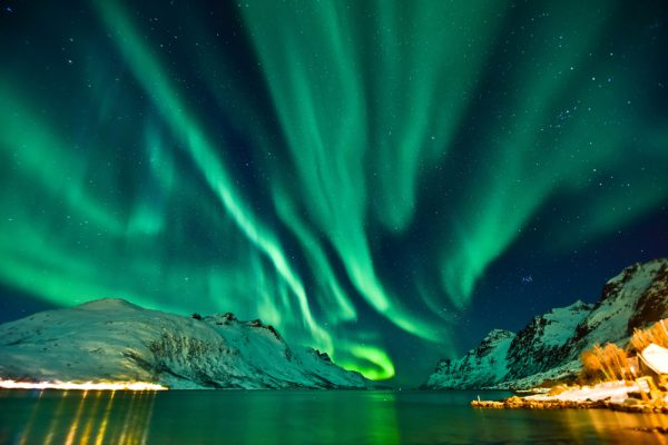 Tromso Norvegia aurora boreala